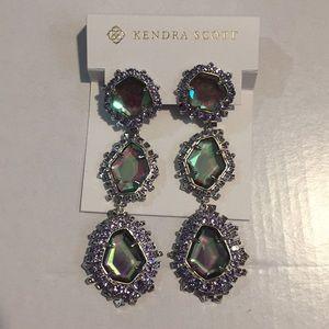Kendra Scott aria earrings silver